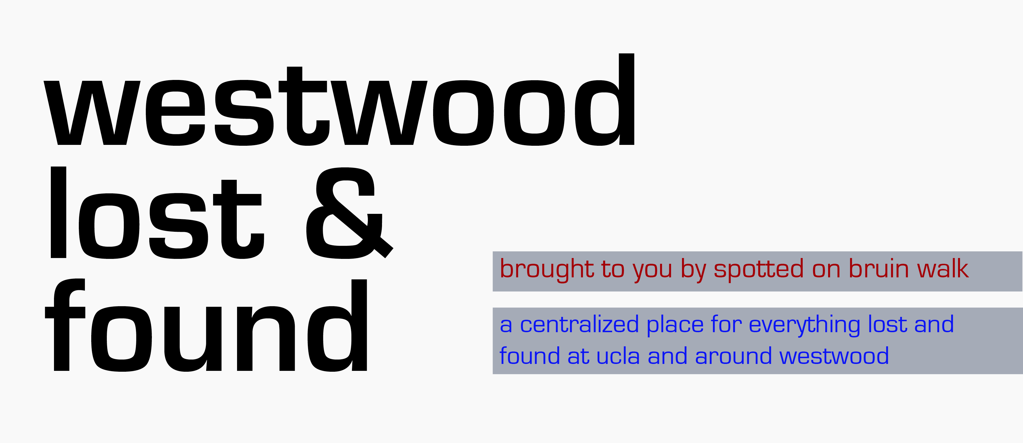 Westwood Lost and Found